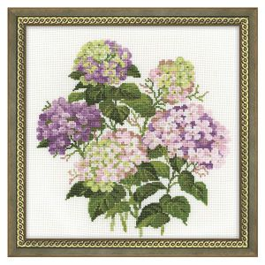 Garden Hydrangeas - Cross Stitch, Needlepoint, Embroidery Kits – Tools and Supplies