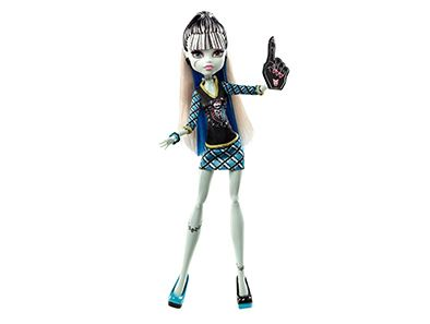 Show your spooky Halloween school spirit with this creepy Monster High fashion doll!