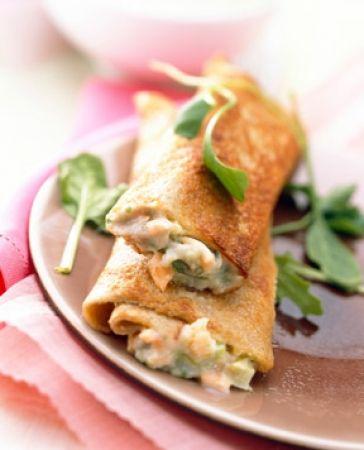 Recette crêpes salées au saumon  : une recette simple à préparer, rapide et estimée déposée par La.