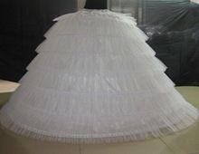 6 Hoops 6 Tieres Tulle Wit Super Gezwollen Grote Lange Petticoats Baljurk Trouwjurken Hoepelrok Volwassen Vrouwen Onderrok 120 cm(China (Mainland))