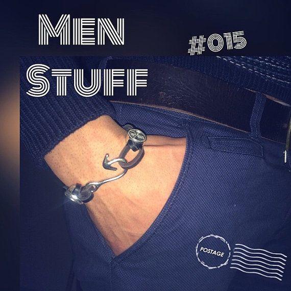 Dark Leather Braided Bracelet for Boys fish by ModernThingsByTF