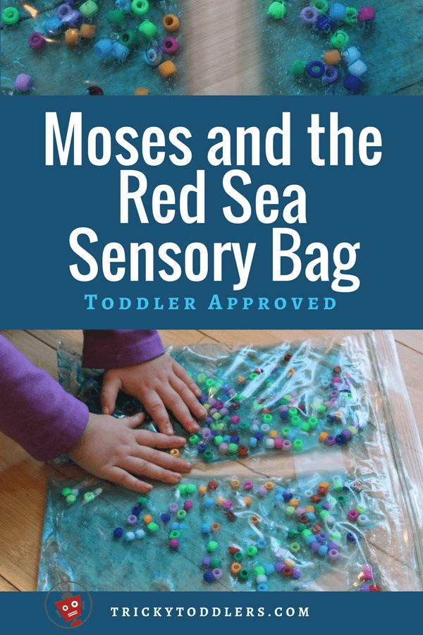 Perfect activity for teaching Moses crossing the Red Sea! So easy and cheap. trickytoddlers.com