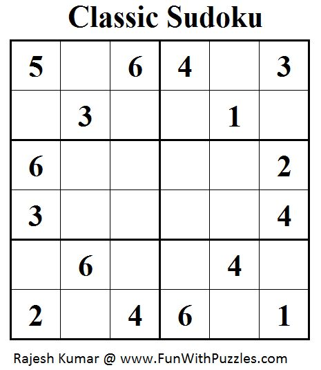 Classic Sudoku (Mini Sudoku Series #40)