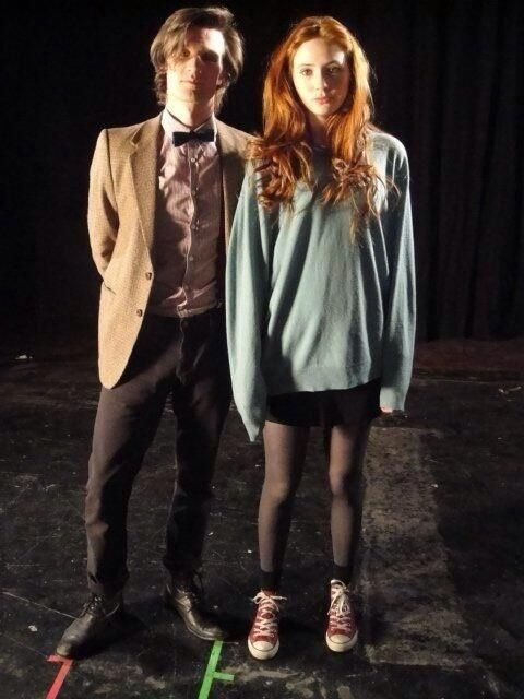 KarenGillan2: 1st pic of Matt and I in character was released 4 yrs ago today, but, I have the real one..from the 1st camera test.   bbs ;_;