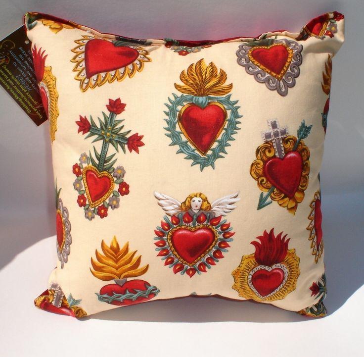 Pillow Corazon Sacred Heart Tattoo Art throw Pillow. $16.00, via Etsy.