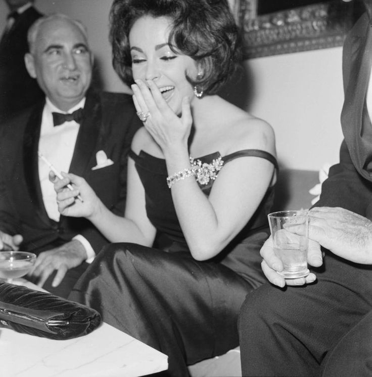Elizabeth Taylor At The David Di Donatello Awards, Rome, 1962 by Elio Sorci