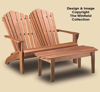 Adirondack Loveseat With Table Plans Woodworking Projects Plans