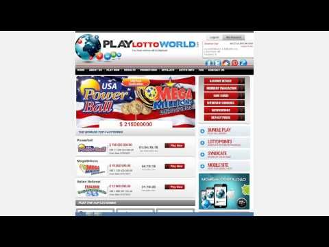 How to register and login in playlottoworld