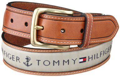 Tommy Hilfiger Men's Ribbon Inlay Belt: Christmas Gifts