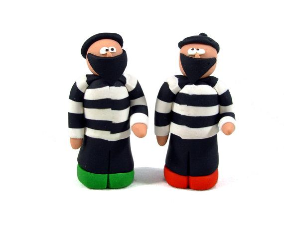 Have several Settlers fans on your gift list? Or maybe you want one to keep and one to give away? These robbers are the perfect small gift or stocking stuffer for the board gamers on your list. This listing is for TWO of Epicycle Designs signature polymer clay robbers!  Epicycle Designs robbers are approx. 1.75 tall, and less than 1 wide. They are sized to replace the lovely little gray or black robber baron from the board game Settlers of Catan. This clay robber is about 1/4 taller than...