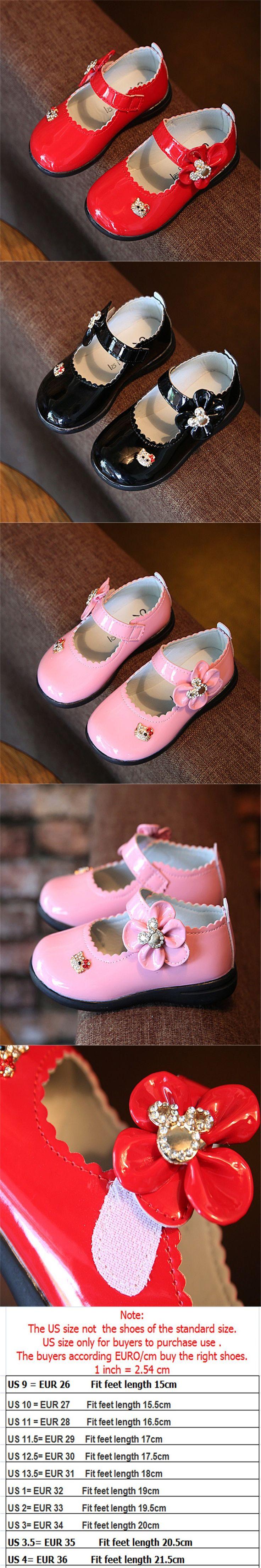 Kids Shoes For Girls 2016 Single Flats Designer Children Leather Flower Girls Shoes Princess chaussure enfant fille 26-36 $14