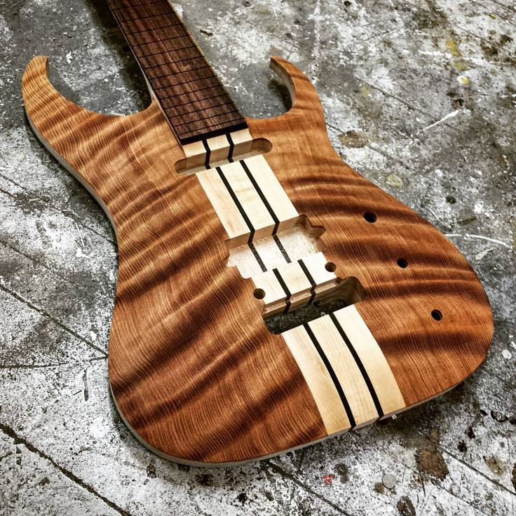"""365 Likes, 17 Comments - Equilibrium Guitars (@eqguitars) on Instagram: """"Curly Redwood = Wooden silk. Come to the 2016 Winter NAMM show and you may get to see this Masai 7…"""""""