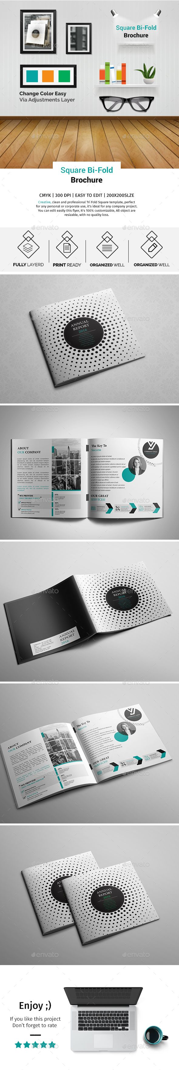 Best Square Brochure Template Images On   Brochure