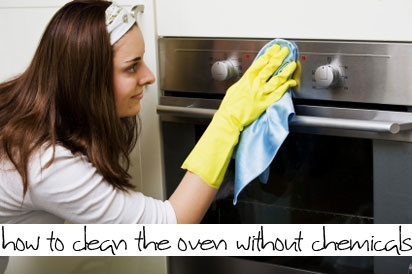 How to clean the oven without chemicals