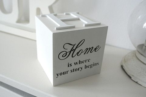Home Wording Block - Divine Shabby Chic