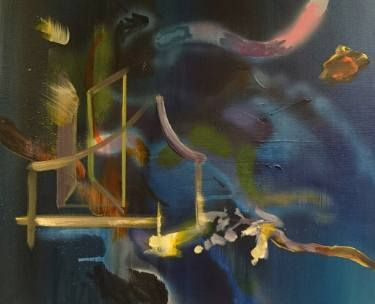 "Saatchi Art Artist Justyna Pennards-Sycz; Painting, ""Golden Door"" #art"