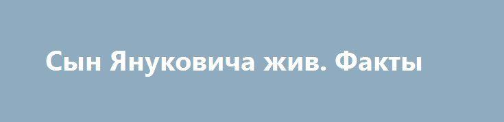 Сын Януковича жив. Факты http://rusdozor.ru/2017/02/21/syn-yanukovicha-zhiv-fakty/  И ничего, кроме фактов