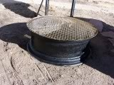 how to build a fire pit with a tire rim