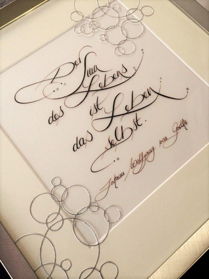 Der Sinn des Lebens ... - federzauber.de - Schrift & Schreiben, Kartendesign