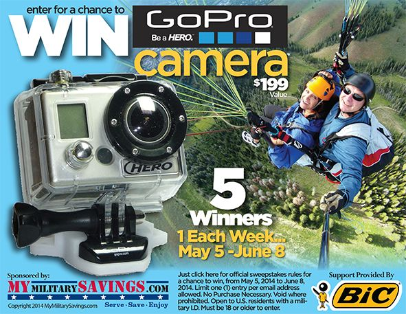 My #Military #Savings - #GoPro #Camera #Sweepstakes #Week #2 #Winner ...