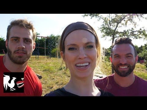 Obstacle Course Training  Video  Description Blaine, Tyler, and Barbara join a daunting exercise class and find out just how hard it is to work out with giant obstacles, javelins, and mud. Thanks to Old Spice for sponsoring, and remember to check out DUOs at this link:   ||| See Rooster Teeth... - #Exercice
