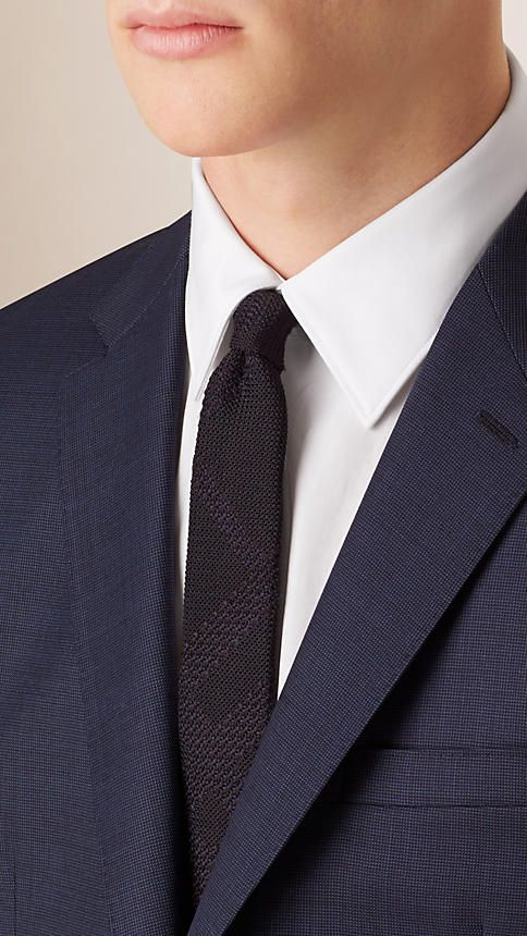 Navy Abito Travel Tailoring aderente in lana - Immagine 3