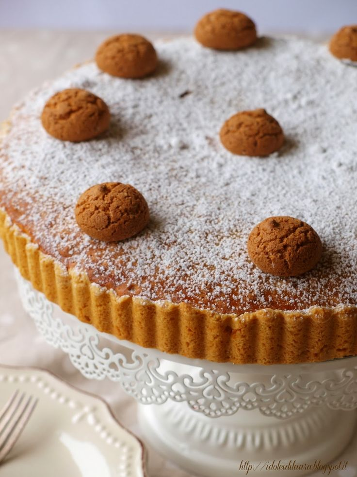 i dolci di laura: Torta di amaretti e caffè (per la frolla preparare quella senza burro)