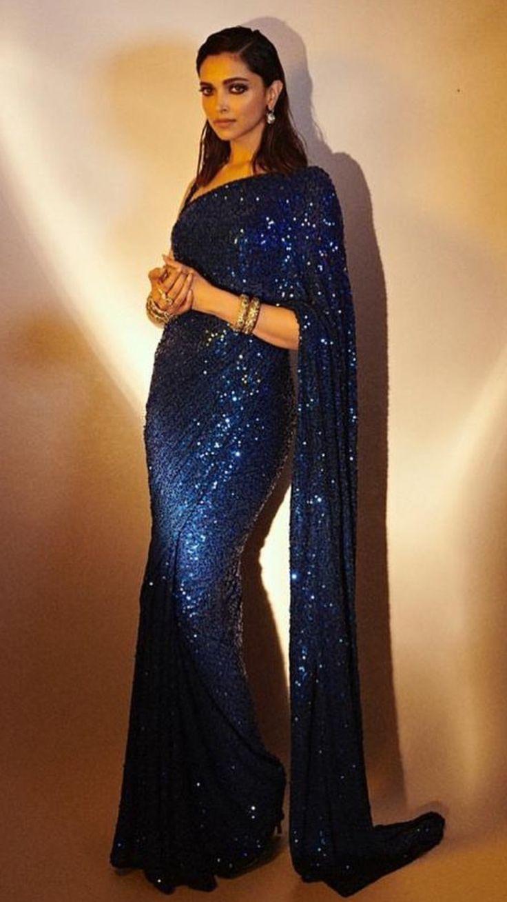 Deepika Padukone wearing Sabhyasachi at the screening of ...