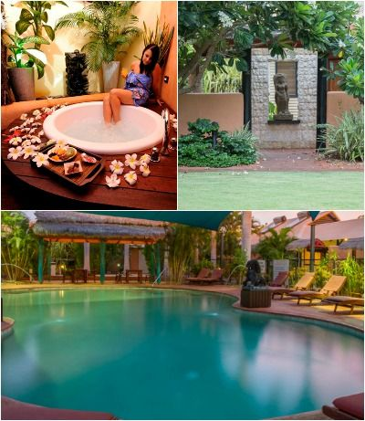 Bali Hai Resort in Broome - amazing Asian-style accommodation. Outdoor showers!! The Bali Hai Cafe opening in 2014.