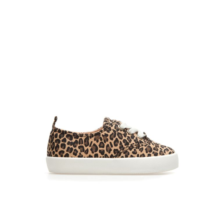 Leopard print plimsoll - Shoes - Baby girl - Kids - ZARA United States