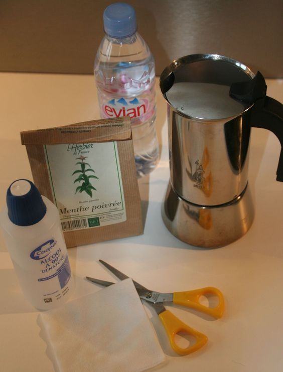 fabriquer une eau végétale proche de l'hydrolat avec une cafetière à l'italienne