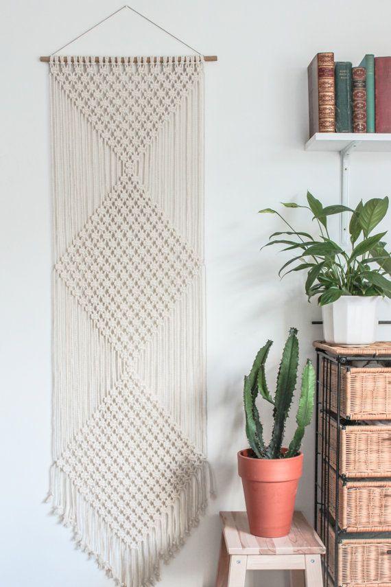 macramé wall hanging.