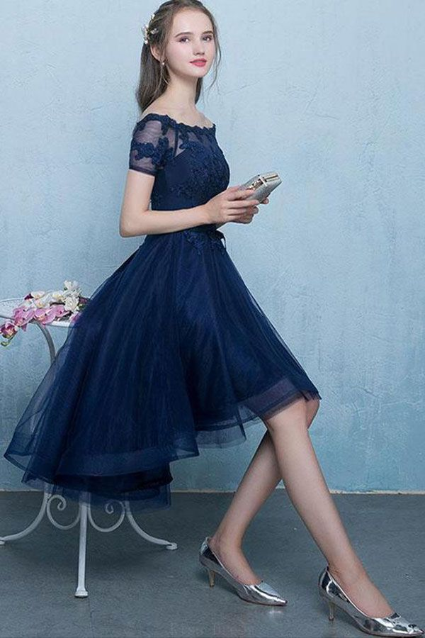 f69f2965e327 A-Line Prom Dresses #ALinePromDresses, Prom Dresses Blue #PromDressesBlue, Dark  Blue Prom Dresses #DarkBluePromDresses, Prom Dresses For Cheap ...