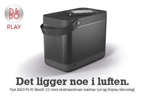 B&O Play Beolit 12 med ekstraordinær bærbar lyd & Airplay-teknologi - nå kan sommeren komme :)