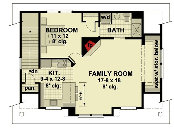 138 best images about apartment garages on pinterest for 3 door apartment floor plan