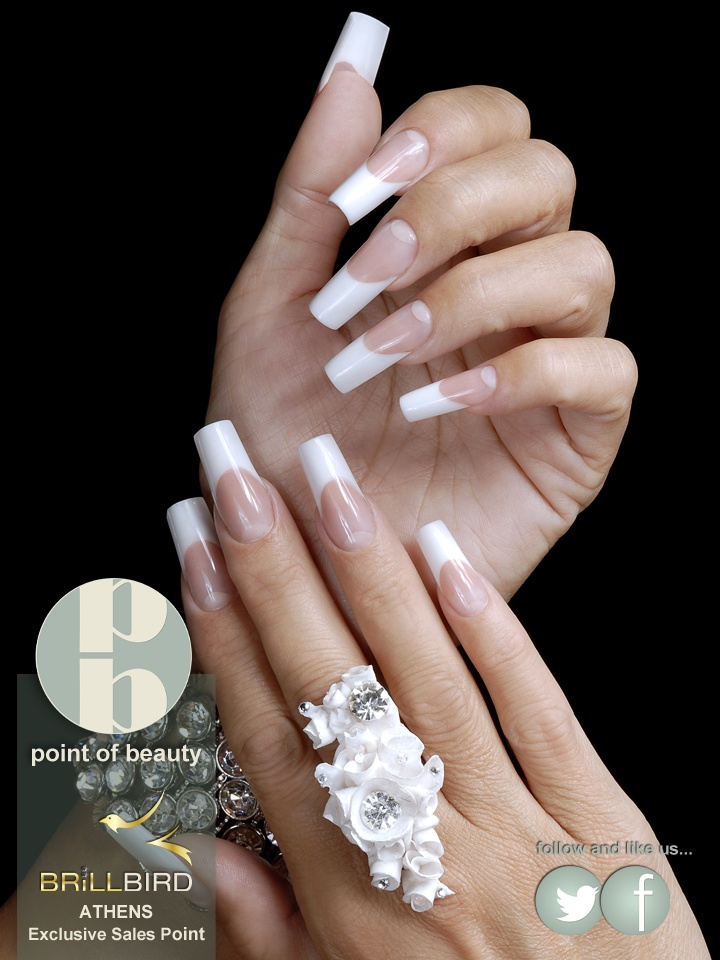 Amazing Nails Only With Brillbird Products Long Fingernailslong Nailslong French Nailsfrench Manicuresgorgeous