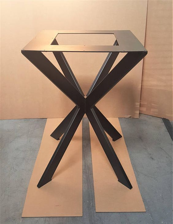 spider style model sp2824 modern table x base for square or rh pinterest com