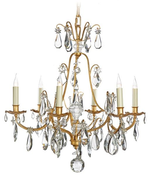 Lovely BAGUÈS Iron Crystal Chandelier available at AndreaFisherDesign.com This same chandelier, by Baguès, can also be seen in the beautiful Boutiques Ladurée – of Paris and Cannes.   #frenchlighting #maisonbagues  #frenchchandelier #laduree