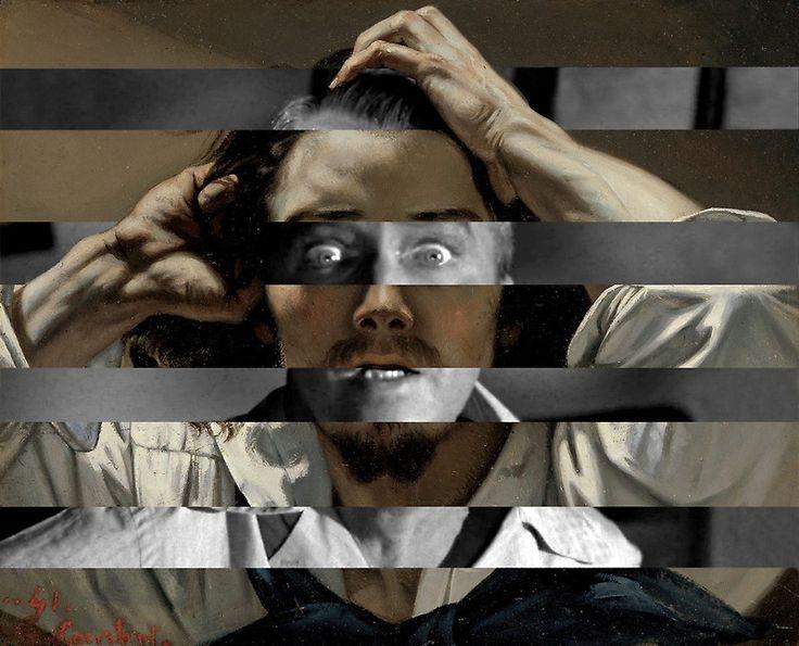 """Gustave Courbet """"The Desperate Man"""" Self Portrait & James Stewart in Vertigo"""
