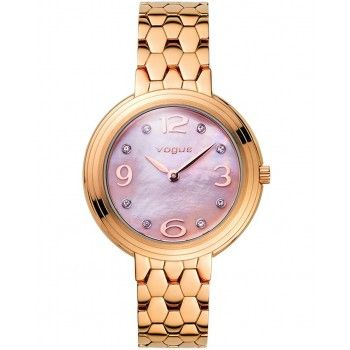 VOGUE Pretty Woman Crystals Rose Gold Stainless Steel Bracelet 81049.4
