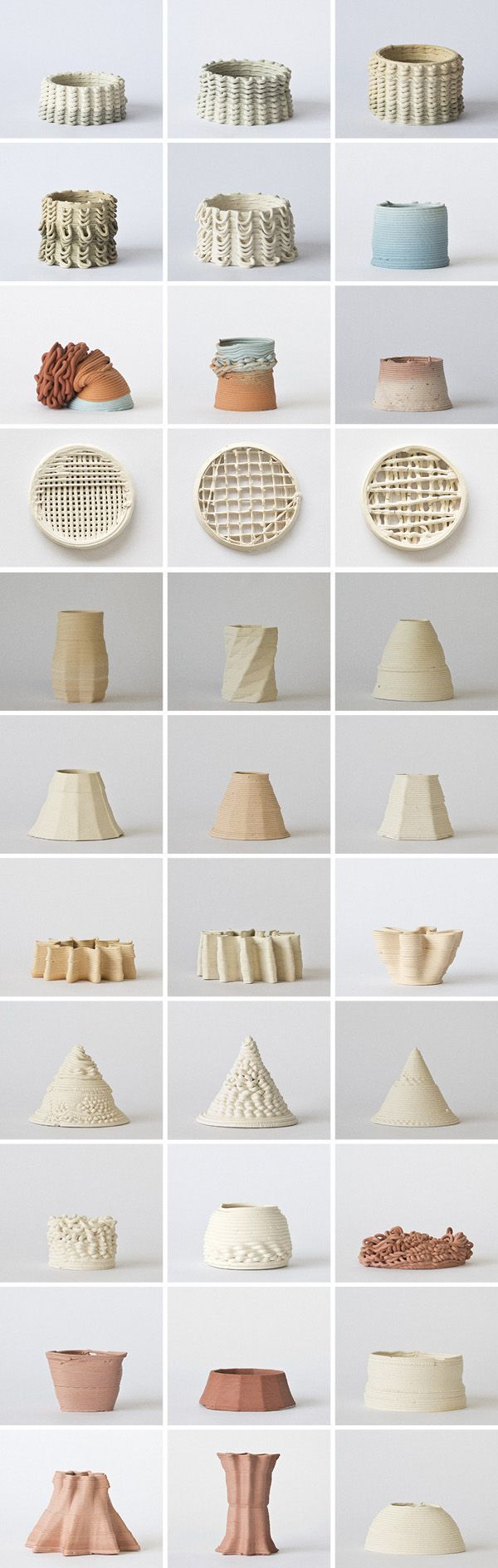 Beautiful study of form and trial manufacturing | 3D printed ceramics Maybe something for 3D Printer Chat?
