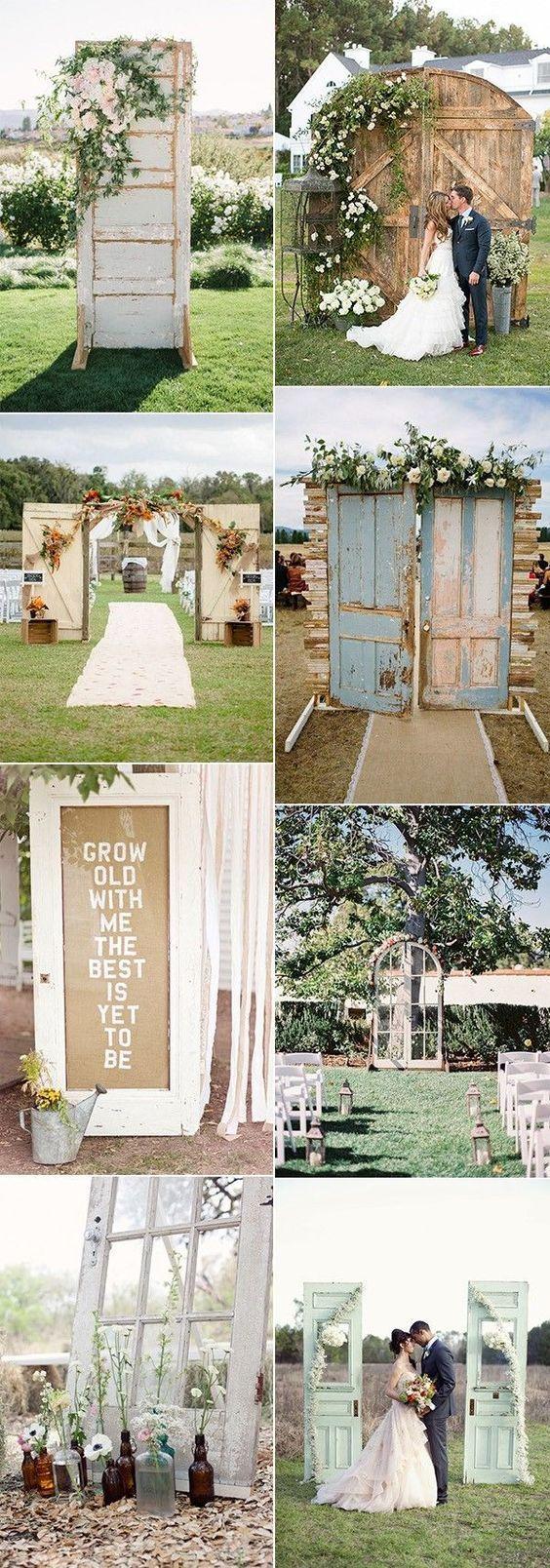 backyard wedding ceremony decoration ideas%0A chic rustic wedding decoration ideas with old doors