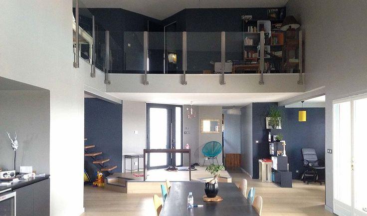 Plus de 1000 id es propos de escaliers main courante - Eclairage salon sans plafonnier ...