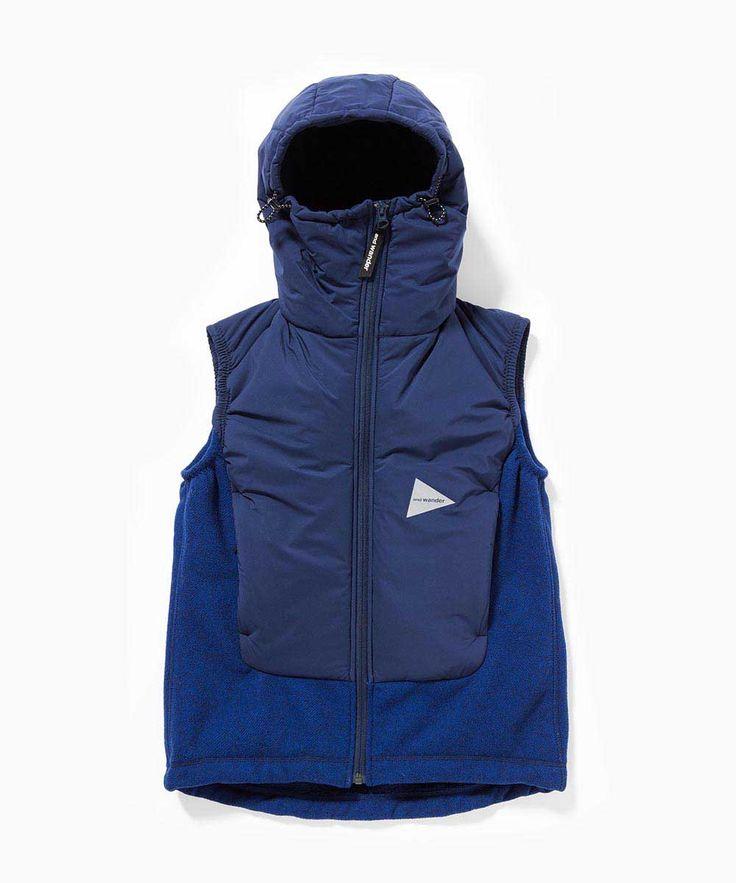 twill fleece vest - and wander online shop