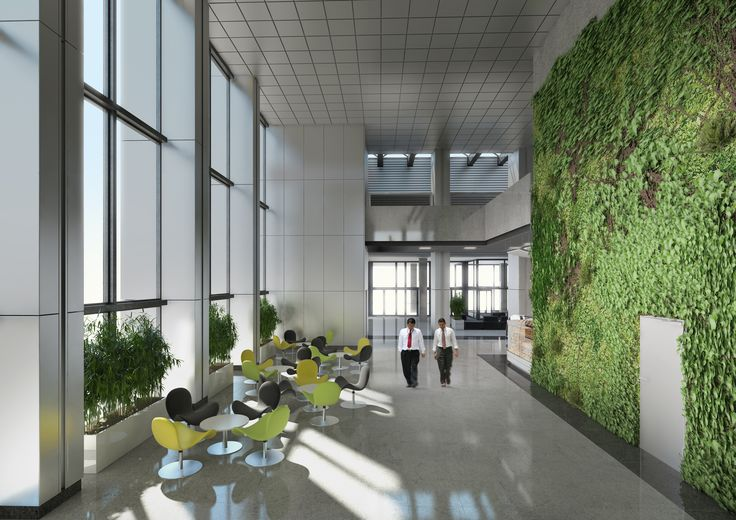Projekt  holu dla Oxford Tower Warszawa / The project of the entrance hall for Oxford Tower Warsaw