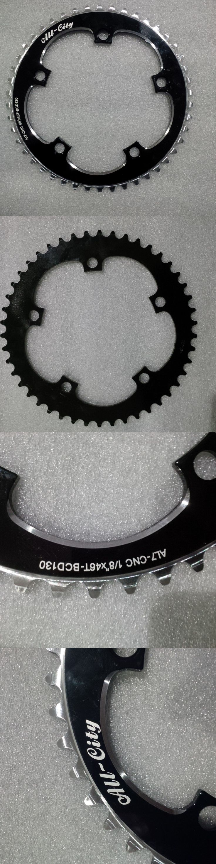 Chainrings and BMX Sprockets 177811: All-City 46T Chainring Black Bcd130 1 8 ***New*** -> BUY IT NOW ONLY: $55 on eBay!