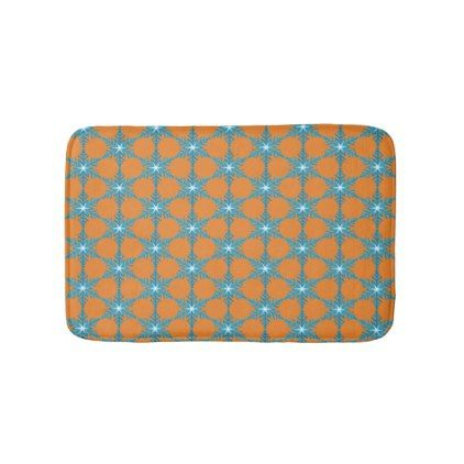 Blue Snow Flakes Small Bath Mat - home gifts ideas decor special unique custom individual customized individualized
