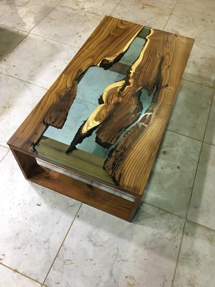 Mustafa Gok S Resin And Wood Ensemble Tables Pinterest