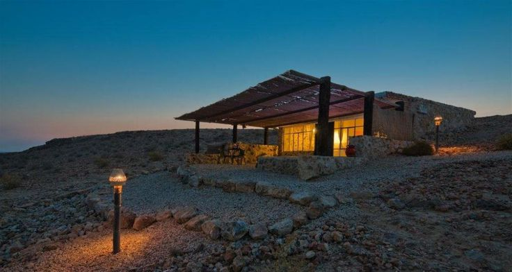 House at the Ramon Crater in the southern part of Israel. Photos Dafna Tal / Tourism Ministry
