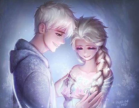 Jelsa elsa and Jack frost disney couple
